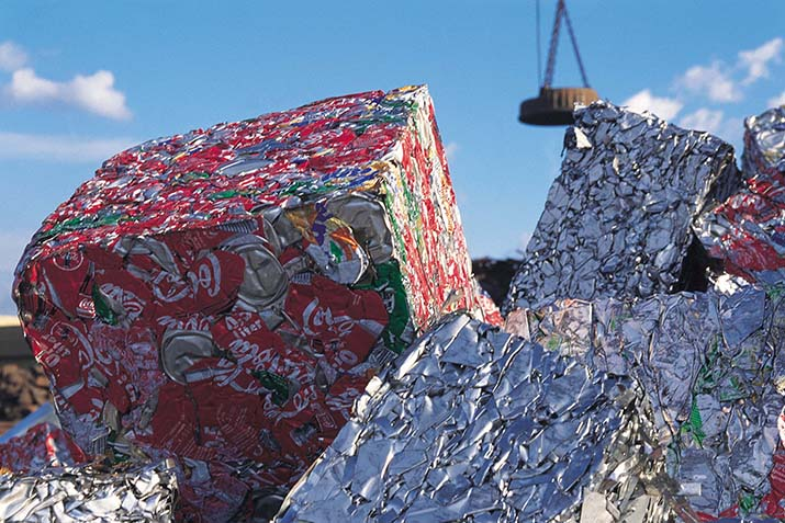 Record-breaking aluminium beverage can recycling