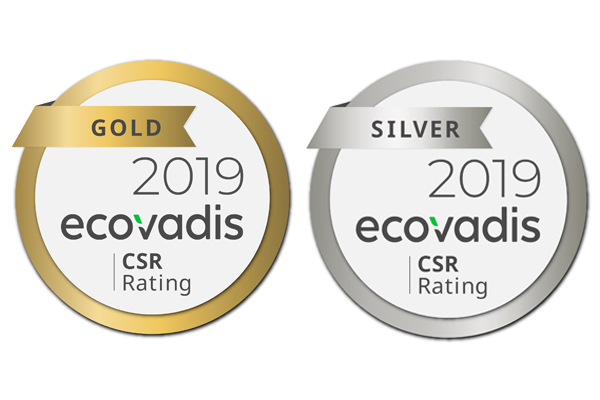 Coleps' gold and silver EcoVadis ratings